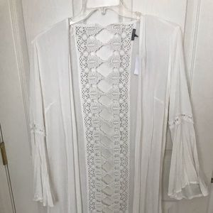 Charolette Russe long sheer detailed cover up